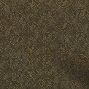 鉄色有楽文緞子